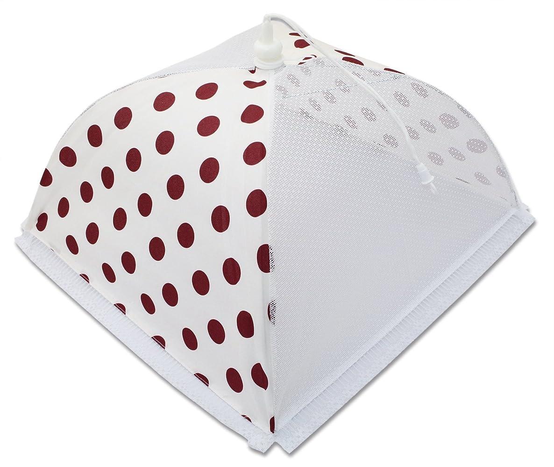 含める注入するジャニスフードカバー 洗える 食卓カバー マール 紅 コンビ 43