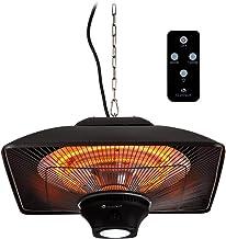 blumfeldt Heat Square - Calefactor exterior, 2000 W, Calefactor de exterior eléctrico, 3 niveles, Calefactor exterior infrarrojos, Tecnología IR ComfortHeat, IP24, Mando a distancia, Cuadrado, Negro