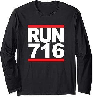 Run 716 Buffalo NY Vintage Running Long Sleeve T-Shirt