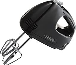 Proctor Silex 5 Speed Easy Mix Electric Hand Mixer with Bowl Rest, Black (62507)