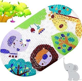 Alphabet tapis de bain pour b/éb/é XL tapis de bain antid/érapant 90 x 40 cm BEEHOMEE Tapis de douche antid/érapant pour enfants grand tapis de bain protection anti-moisissures pour enfants