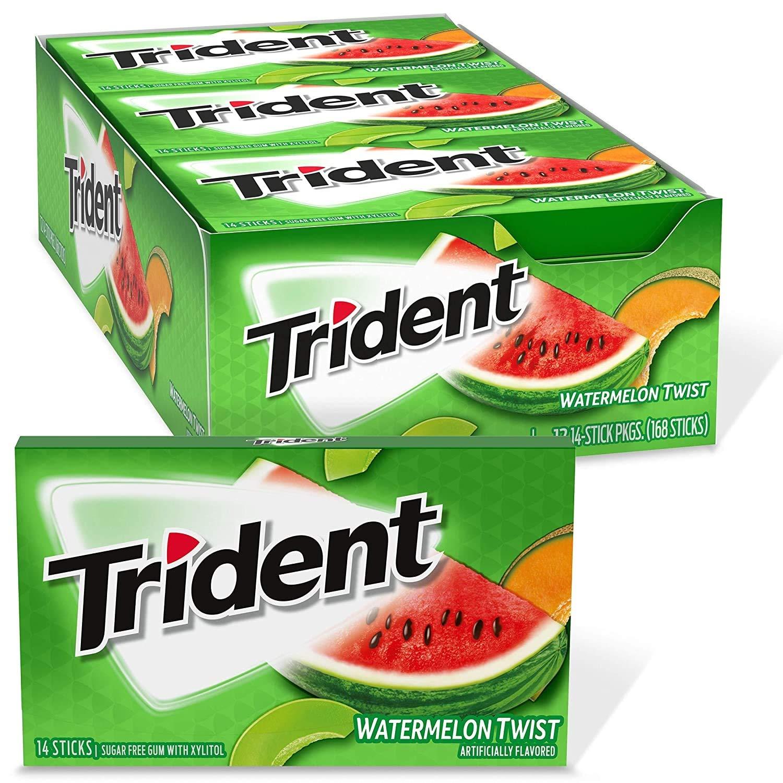 Trident Dallas Mall Max 50% OFF Watermelon Twist Sugar Free Gum of 12 Pieces 14 Packs