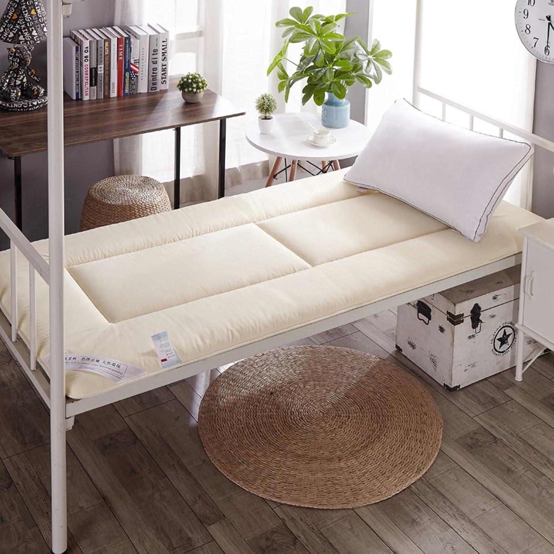 LJ&XJ Soft Tatami Mattress,Foldable Tatami mat Dormitory Thin Single Bed Mattress,Comfortable Durable Floor mat,Thickness 4cm-Beige Queen1