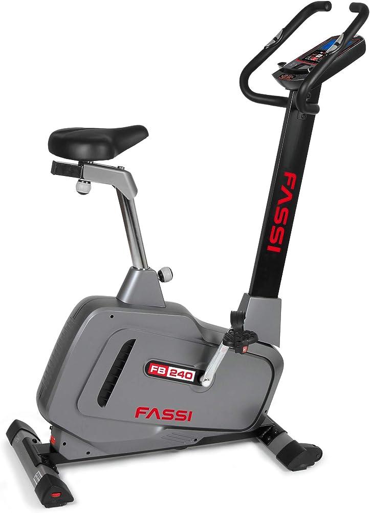 Fassi fb 240, cyclette con regolazione dello sforzo elettrico, 16 livelli a controllo watt, regolazione cardi FB-FB240