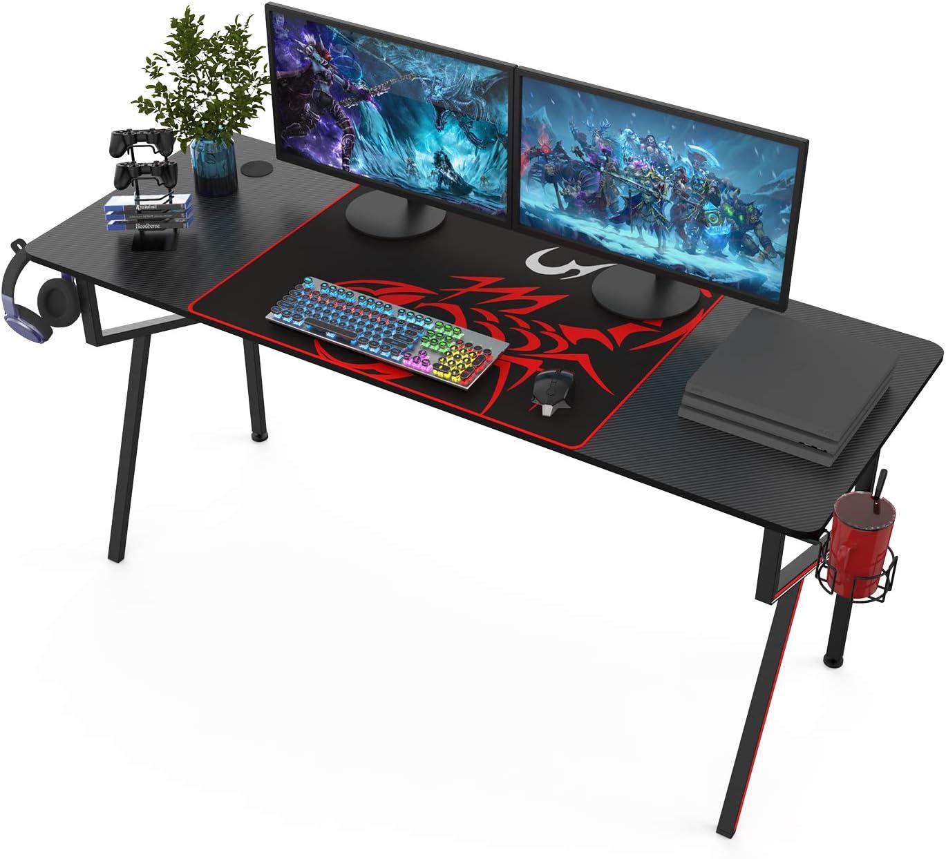 It's_Organized Gaming Desk 63 Under blast sales inch Home K-Frame Design De Memphis Mall Office