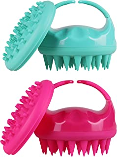 Soaab Shampoo Brush Scalp Massager Exfoliating Brush, Soft Silicone Brush For Hair Stimulation with Body Brush Attachment (Green)