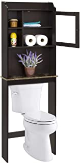 Best Choice Products Modern Over-The-Toilet Space Saver Organization Wood Storage Cabinet for Home, Bathroom - Espresso