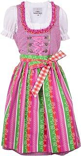 Ramona Lippert Kinder Dirndl für Mädchen - Kinderdirndl Lina in Rosa Kariert - 3-teiliges Trachtenkleid - Trachtenmode - Tracht mit Schürze