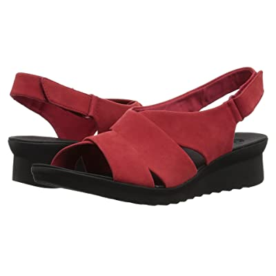 Clarks Caddell Petal (Red Synthetic Nubuck) Women
