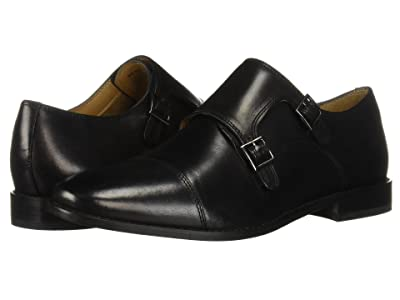 Florsheim Montinaro Double Monk Strap (Black Smooth) Men