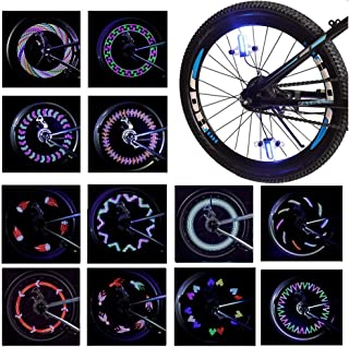 LEBOLIKE Bike Spoke Light Waterproof Colorful LEDs Bike Wheel Lights for Bicycle Wheel Spoke Decorations - 1 Pack