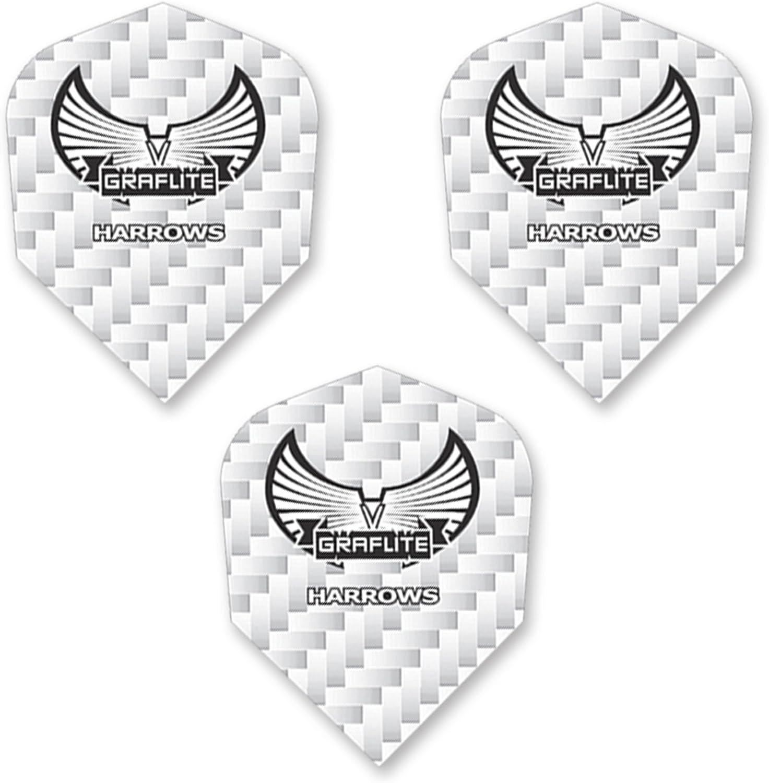 Harrows Graflite Standard Max 75% OFF Shape Flights White Dart Spasm price