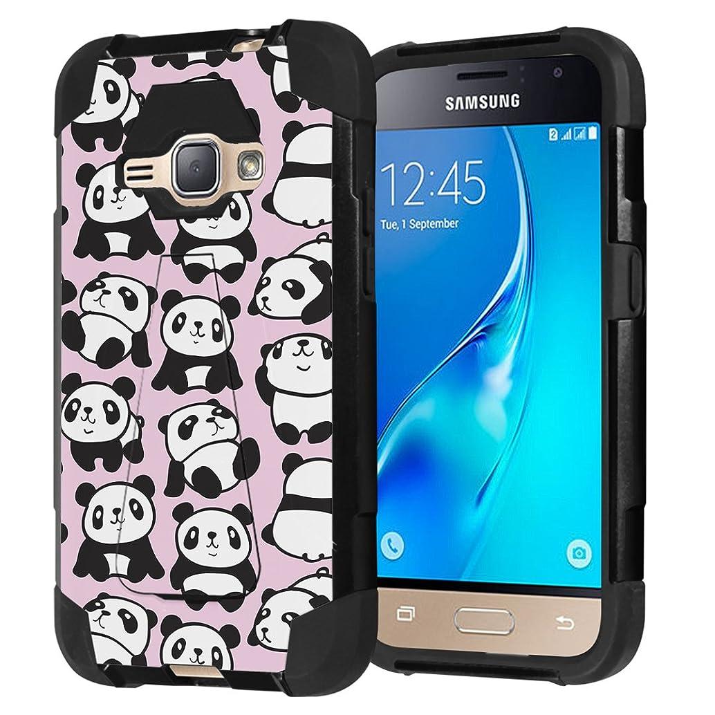 Galaxy Express 3 / Galaxy Amp 2 / Galaxy Luna/Galaxy J1 J120 Case, Capsule-Case Shockproof Kickstand Case (Black) for Samsung Galaxy Express3 / Amp2 / Luna / J1 J120 -(Pink Panda)