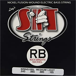 SIT Strings S.I.T. Stay In Tune NRB45105L Rock Bright 4-String Medium-Light Nickel Bass (