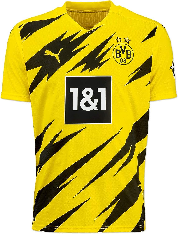 PUMA 1a Equipación 20/21 Replica Borussia Dortmund BVB Hombre_ Camiseta Hombre