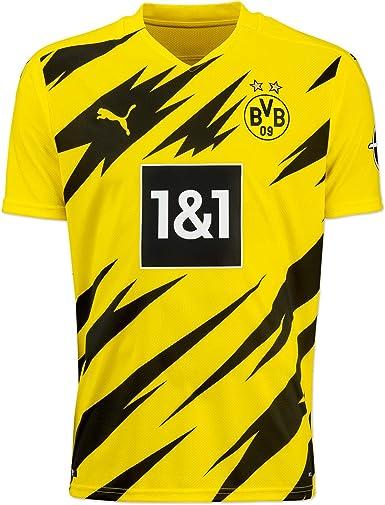 Amazon.com: PUMA Mens Borussia Dortmund Home Football T-Shirt 20 ...