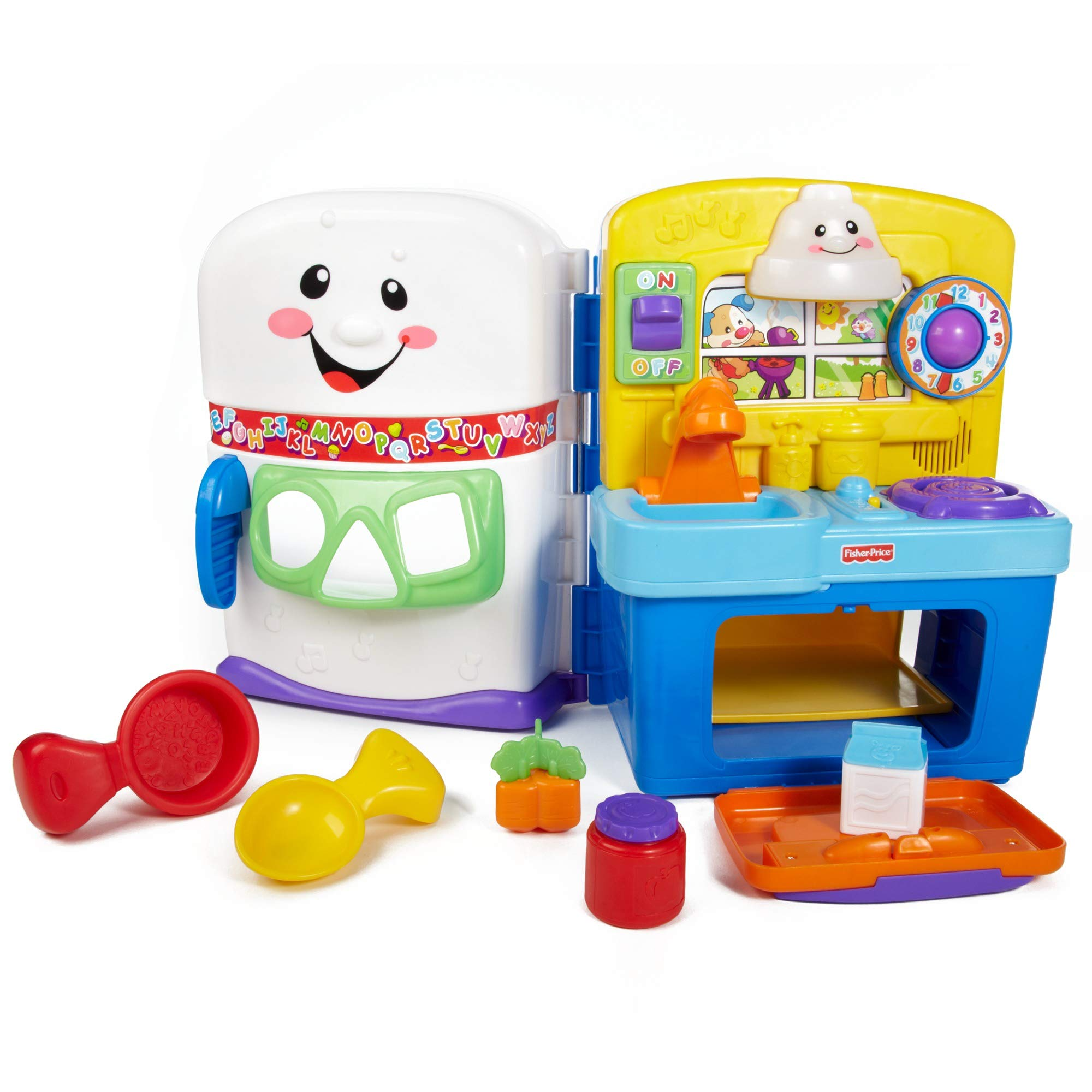 Fisher Price Laugh and Learn Learning Kitchen Interactive Pretend Play Set [Amazon Exclusive]