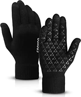 COOYOO Winter Gloves for Women and Men Touchscreen Gloves,Knit Wool, Anti-Slip Silicone Gel - Elastic Cuff - Thermal Soft ...