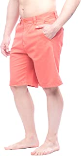 Men's Flat Front Shorts with Pockets