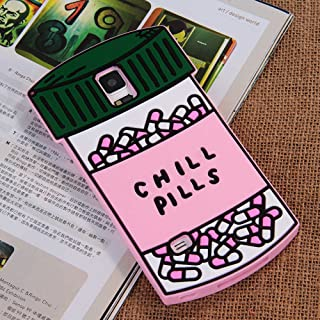 Chill Pills Samsung Galaxy Note4 Case Soft Silicone Material Brand New Gift for Girls Women (For Samsung Galaxy Note 4)