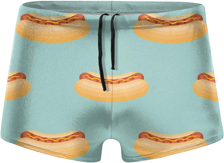 Christmas Hot Dog Men's Swimming Trunks Fitness Swimwear Boxer Pants Board Shorts
