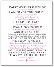 I Carry Your Heart With Me Print - 8