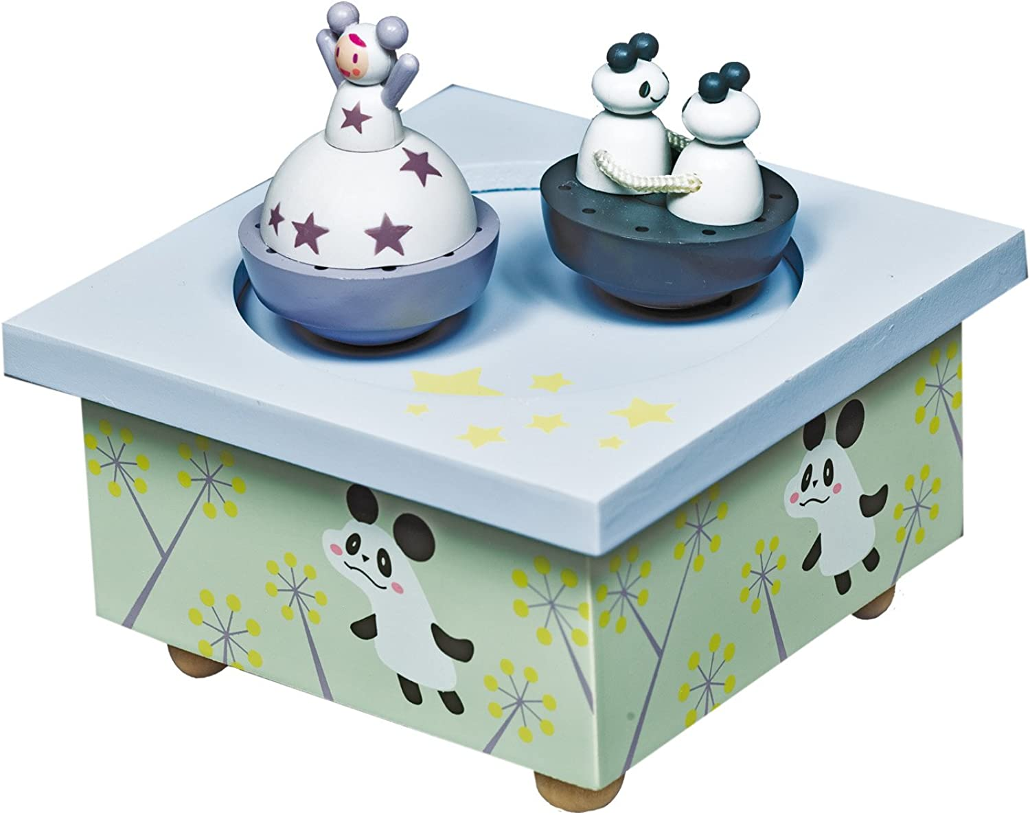 Trousselier Spinning Music Box Girl and Panda