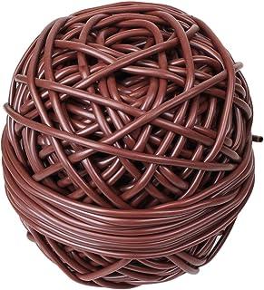 Linxor France ® Bobine de lien tube creux antigel en PVC - Diam 3 mm x 50 m - Marron - Norme CE