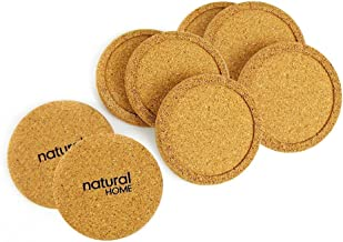 Natural Home Products Wp17 3-3/4 Cork Coaster Set 4 Count