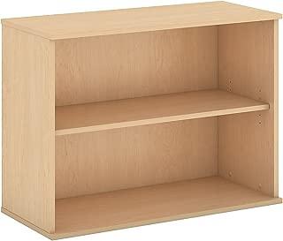 Bush Business Furniture 30H 2 Shelf Bookcase in Natural Maple
