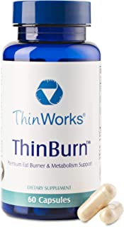 ThinWorks ThinBurn Premium Fat Burner and Metabolism Support, Green Coffee Bean Extract, Raspberry Ketones, Garcinia Cambo...