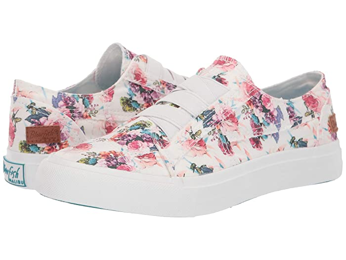 Blowfish  Marley (Off-White Starbella Print Canvas) Womens Flat Shoes
