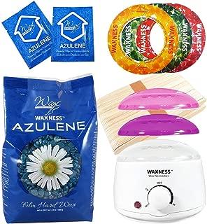 Wax Necessities Azulene Stripless Waxing Kit with 2.2 Pound Wax Bag