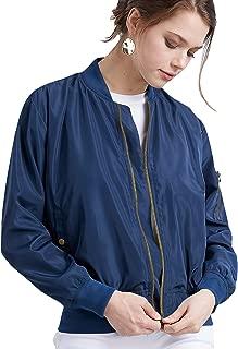 Come Together California CTC Women's Classic Lightweight Jacket Multi Pocket Windbreaker Bomber Jacket