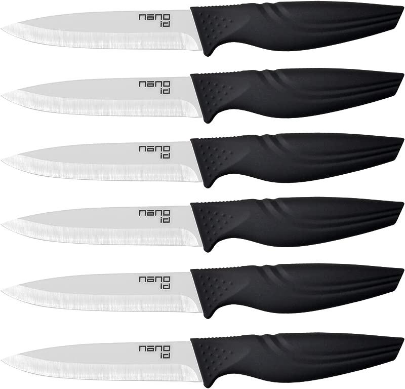 Steak Knives Set Of 6 Nano ID Ceramic Stake Knife Sharp Ceramic Knife Perfect Festival Present Black