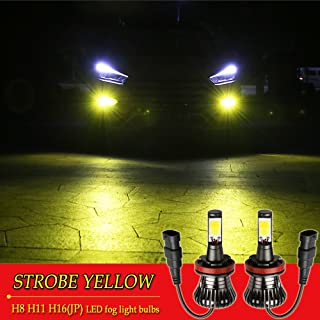 H11 LED Fog Lights Bulb H8 LED Bulbs Yellow 3000K Strobe Flashing Lamps H16 H9 Car Trucks 12V 30W Bright Universal Replacement Modification Accessories Easy Installation 2pcs【1797】