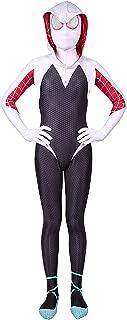 Kids Spider Verse Miles Morales Gwen Bodysuit Halloween Cosplay Costumes