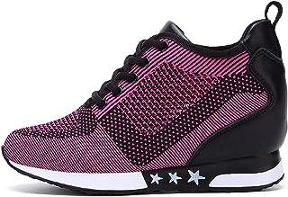 TQGOLD® Femme Baskets Chaussure de Sport Gym Fitness Sneakers Basses Compensées 8 cm