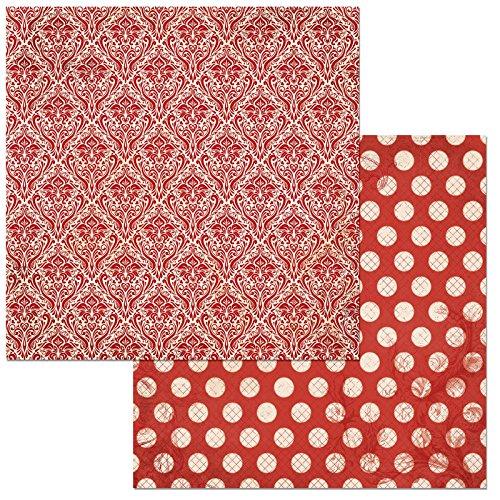 Bo Bunny Double Dot Damast Scrapbooking Papier, 30,5x 30,5cm