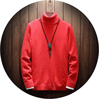 Turtleneck Sweater Men Solid Christmas Knitted Sweater urtleneck Sweater Pullover