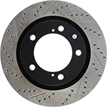 StopTech 127.44156R Sport Drilled/Slotted Brake Rotor (Front Right), 1 Pack