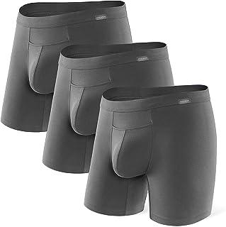 DAVID ARCHY Men's 3 Pack Premium Supima Cotton Underwear Ultra Soft Boxer Briefs with Fly