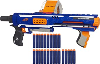 Nerf Rampage N-Strike Elite Toy Blaster with 25 Dart Drum Slam Fire & 25 Official Elite Foam Darts for Kids, Teens, & Adul...