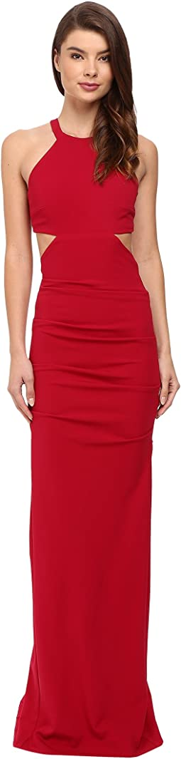 Belize Cut Out Structured Jersey Gown