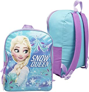Character Backpacks For School, Summer Camp, Travel and Outdoors With Adjustable, Padded Back Straps (Frozen 15