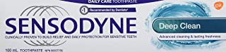 Sensodyne deep clean daily toothpaste for sensitive teeth, mint, 100ml