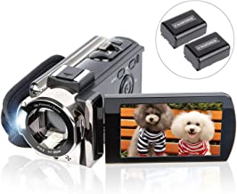 Video Camera Camcorder Digital YouTube Vlogging Camera Recorder kicteck Full HD 1080P..