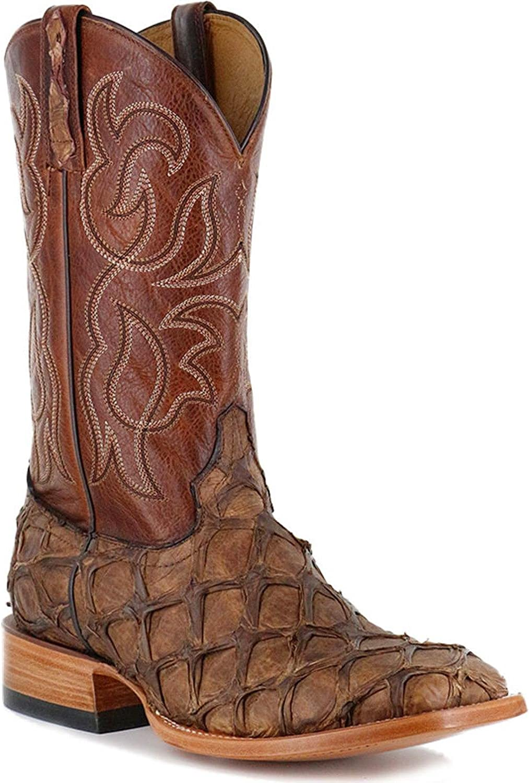 Cody James San Francisco Mall Men's Pirarucu Exotic Indefinitely Square - Bbme039 Toe Boot