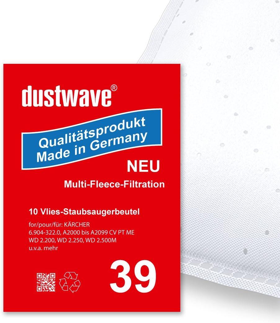WD 3.000 bis 3.999 5x Staubsaugerbeutel Micro-Vlies für Kärcher 6.959-130