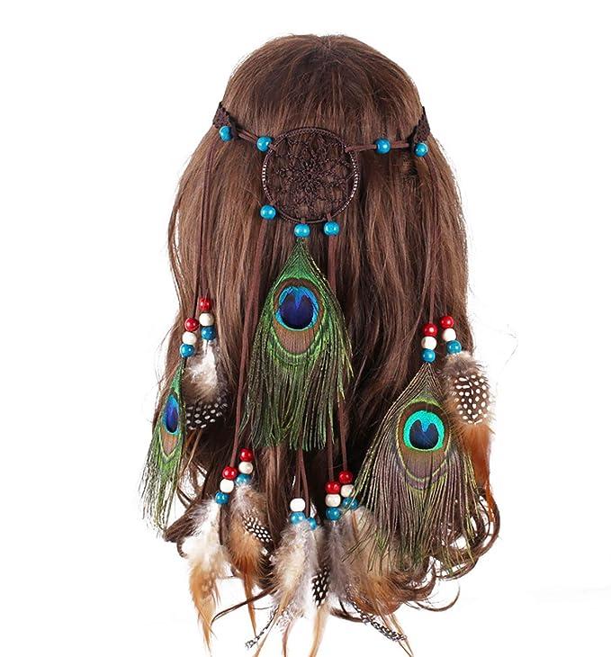 hippie Beaded Barrettes boho Native American